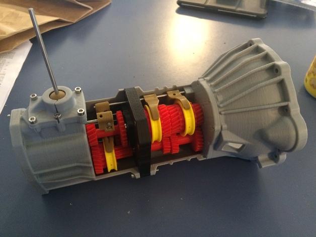 3д модель коробка передач