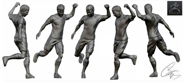 3d модель футболист