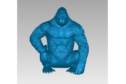3д модель обезьяна