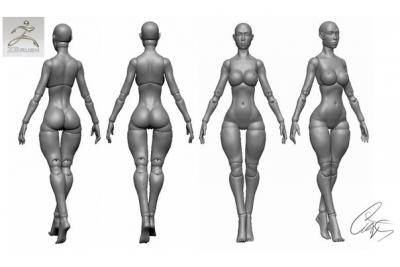 3д модель кукла шарнирная